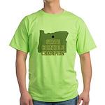 Oregon State Cornhole Champio Green T-Shirt