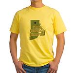 Rhode Island State Cornhole C Yellow T-Shirt