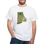 Rhode Island State Cornhole C White T-Shirt