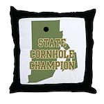 Rhode Island State Cornhole C Throw Pillow