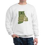 Rhode Island State Cornhole C Sweatshirt