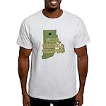 Rhode Island State Cornhole C Light T-Shirt