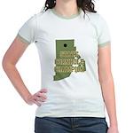 Rhode Island State Cornhole C Jr. Ringer T-Shirt