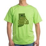Rhode Island State Cornhole C Green T-Shirt