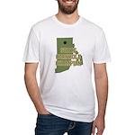 Rhode Island State Cornhole C Fitted T-Shirt
