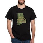 Rhode Island State Cornhole C Dark T-Shirt