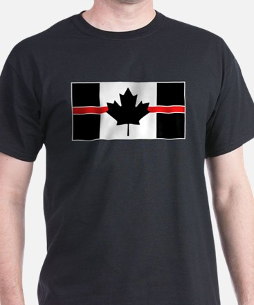 Canadian Firefighter: Thin Red Line T-Shirt