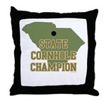 South Carolina State Cornhole Throw Pillow