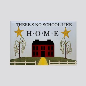 There's No School Like Home Rectangle Magnet