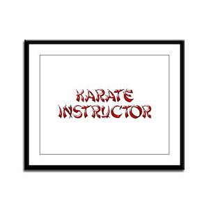 """""""KARATE INSTRUCTOR"""" Framed Panel Print"""