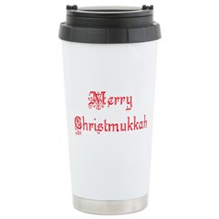 Christmukkah Stainless Steel Travel Mug