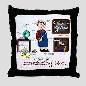 Homeschool Mom Anatomy Throw Pillow