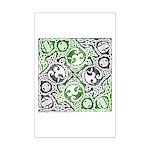 Celtic Puzzle Square Mini Poster Print