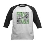 Celtic Puzzle Square Kids Baseball Jersey