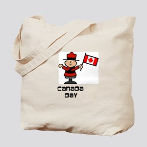 Canada Day Mountie Tote Bag