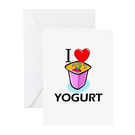 I Love Yogurt Greeting Cards (Pk of 10)