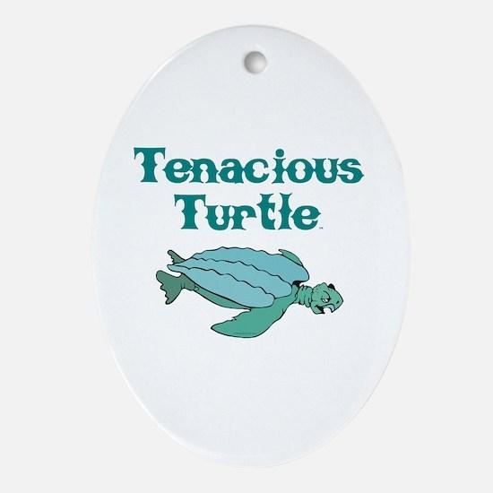 Tenacious Turtle Ornament (Oval)