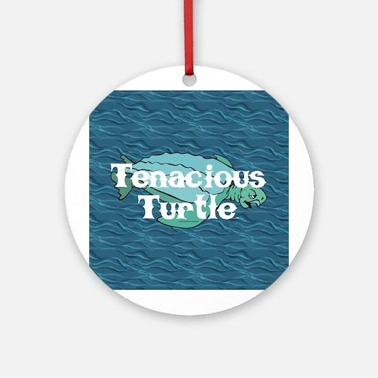 Tenacious Turtle Ornament (Round)
