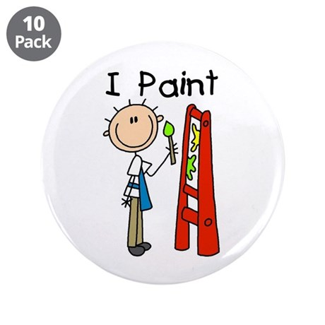 "I Paint 3.5"" Button (10 pack)"