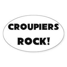 Croupiers ROCK Oval Sticker