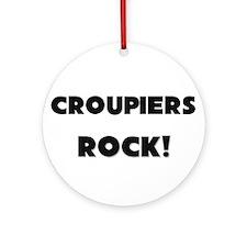 Croupiers ROCK Ornament (Round)