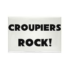 Croupiers ROCK Rectangle Magnet