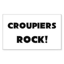 Croupiers ROCK Rectangle Sticker