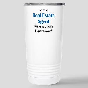 real estate agent 16 oz Stainless Steel Travel Mug