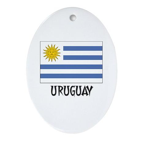 Uruguay Flag Oval Ornament