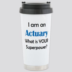 actuary 16 oz Stainless Steel Travel Mug
