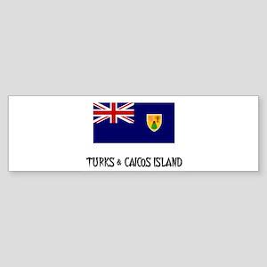 Turks & Caicos Island Flag Bumper Sticker