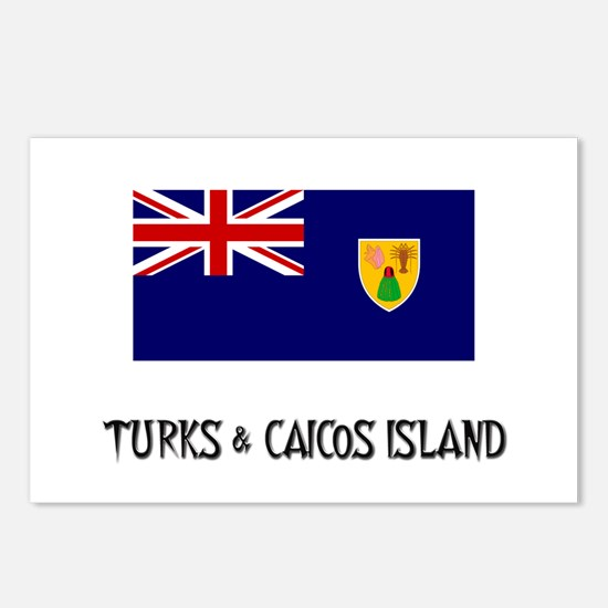 Turks & Caicos Island Flag Postcards (Package of 8