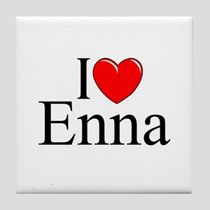 """I Love (Heart) Enna"" Tile Coaster"
