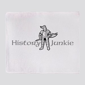 History Junkie Throw Blanket