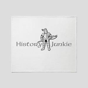 History Junkie Throw Blanket