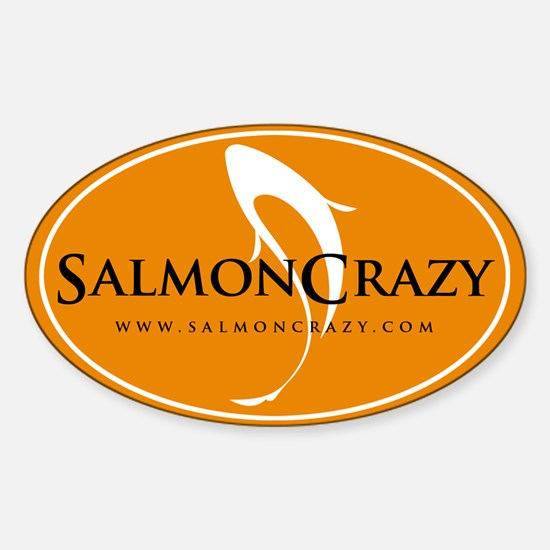 SalmonCrazy Logo Oval Decal