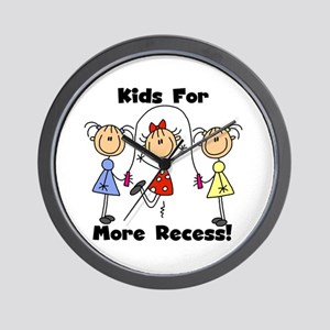 Kids for More Recess Wall Clock
