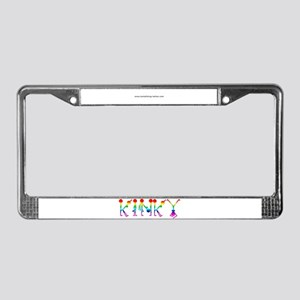 Kinky Rainbow License Plate Frame
