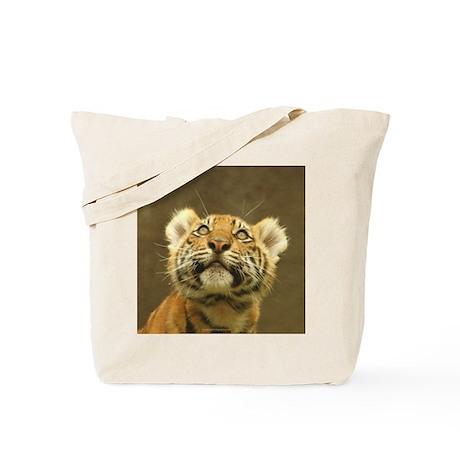Little Tiger, Big World Tote Bag