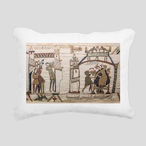Halley's Comet 1066 Rectangular Canvas Pillow