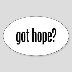 got hope? Oval Sticker