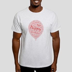 happy birthday languages wordart T-Shirt