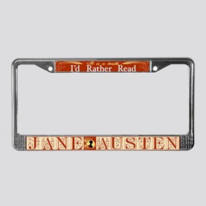 I'd Rather Read... License Plate Frame