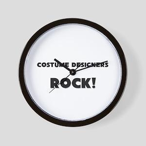 Costume Designers ROCK Wall Clock