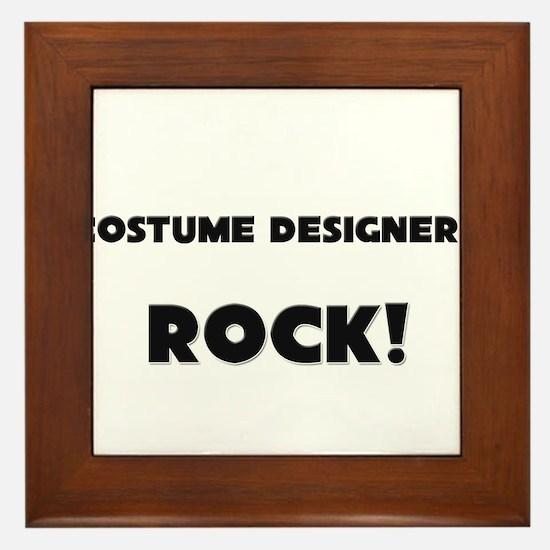Costume Designers ROCK Framed Tile