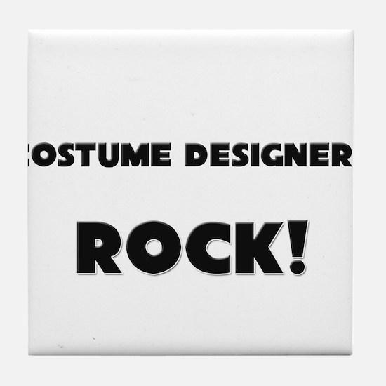 Costume Designers ROCK Tile Coaster