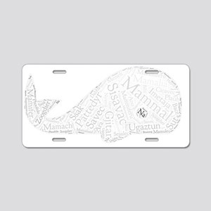mammal languages wordart Aluminum License Plate