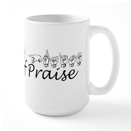 Hands of Praise/no name added Large Mug