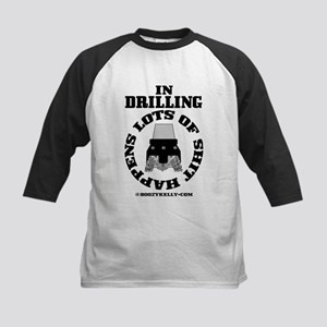 In Drilling Shit Happens Kids Baseball Jersey