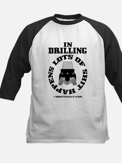 In Drilling Shit Happens Kids Baseball Jersey